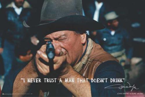 "John Wayne Take Aim Poster 36"" x 24"""