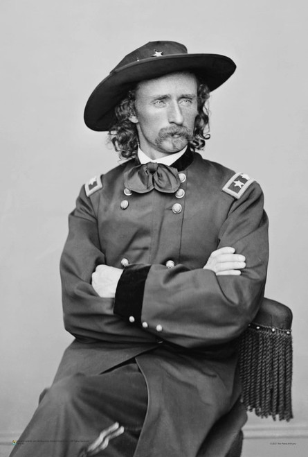 """George Armstrong Custer Portrait Mini Poster 12"""" x 18"""""""