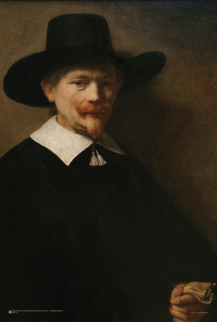 """Burgher with Gloves and Silver Tassels by Rembrandt Mini Poster 12"""" x 18"""""""
