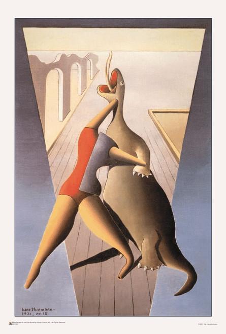 "Der Kampf by Hans Thiemann Mini Poster 12"" x 18"""