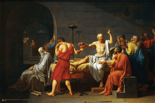 """Death of Socrates by Jacques-Louis David Mini Poster 18"""" x 12"""""""
