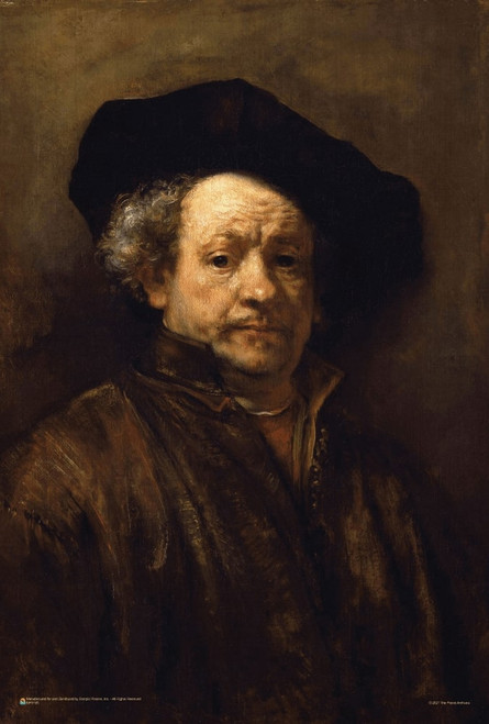"Self Portrait by Rembrandt Harmenszoon van Rijn Mini Poster 12"" x 18"""