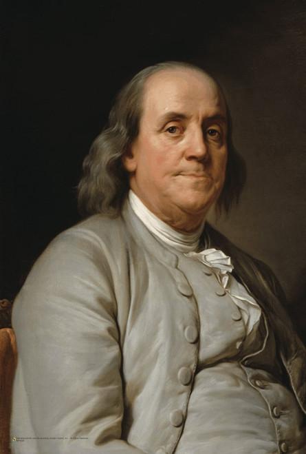 """Benjamin Franklin Portrait Mini Poster 12"""" x 18"""""""