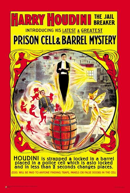"Harry Houdini - The Jail Breaker Mini Poster 12"" x 18"""