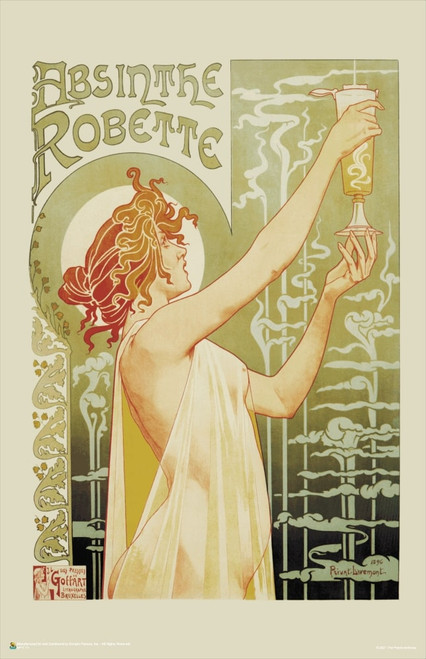 """Absinthe Robette by Privat-Livemont Mini Poster 11"""" x 17"""""""