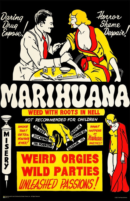 """Marihuana - Weed with Roots in Hell Mini Poster 11"""" x 17"""""""