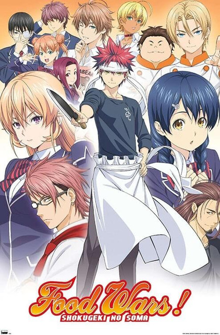 """Food Wars! - Group Poster - 22.375"""" x 34"""""""