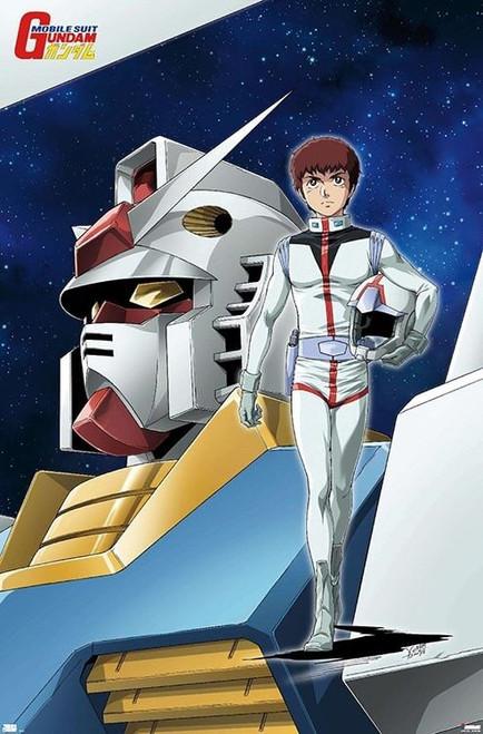 "Mobile Suit Gundam - Key Art Poster - 22.375"" x 34"""