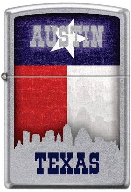 Austin with Skyline Street Chrome Zippo Lighter