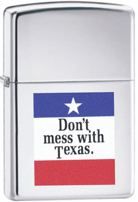 Don't Mess with Texas High Polish Chrome Zippo Lighter