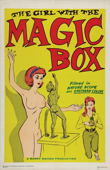 "The Girl with the Magic Box -1965 Sexploitation Film Mini Movie Poster 11"" x 17"""
