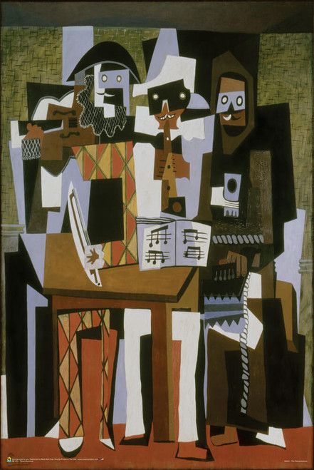"""Three Musicians by Pablo Picasso Poster 24"""" x 36"""""""