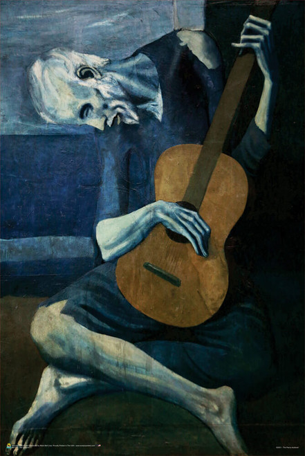 """Old Guitarist by Pablo Picasso Poster 24"""" x 36"""""""