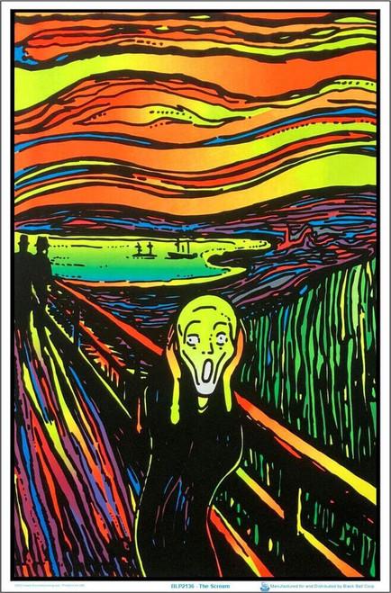"The Scream Blacklight Poster 23"" x 35"""