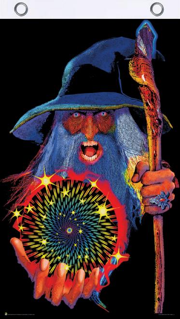 Mystic Wizard Blacklight Reactive Fly Flag 3' x 5'