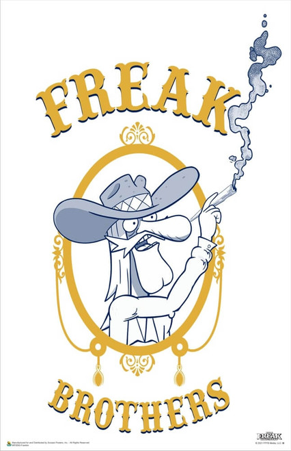 """The Freak Brothers - Frankin Poster 11"""" x 17"""""""