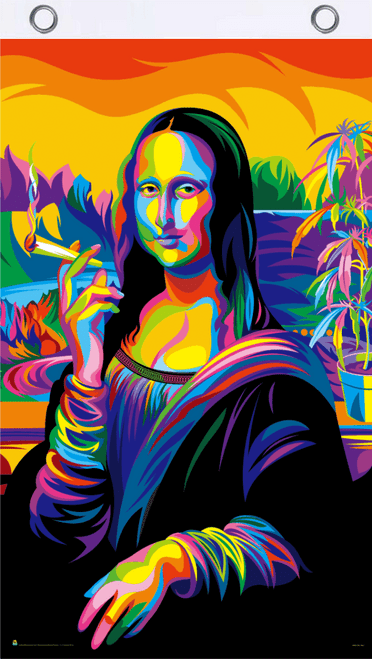 Mona Lisa Joint Blacklight Reactive Fly Flag 3' x 5'