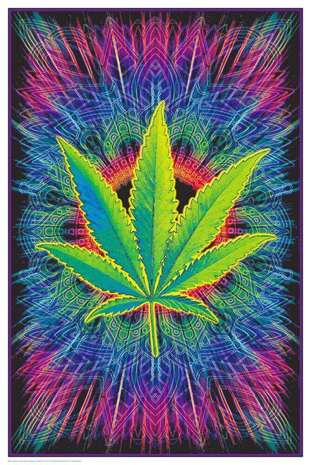 """Canna Vibes Non-Flocked Blacklight Poster 24"""" x 36"""""""