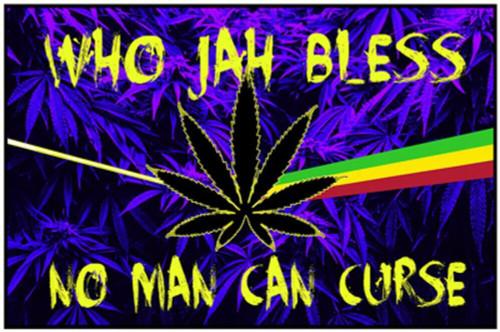 "Jah Bless Non-Flocked Blacklight Poster 36"" x 24"""
