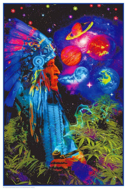 """Peace Pipe Universe Non-Flocked Blacklight Poster 24"""" x 36"""""""