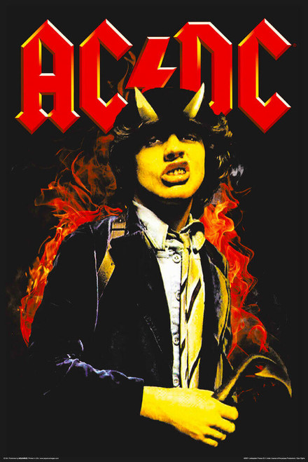 """AC/DC Angus - Non-Flocked Blacklight Poster 24"""" x 36"""""""