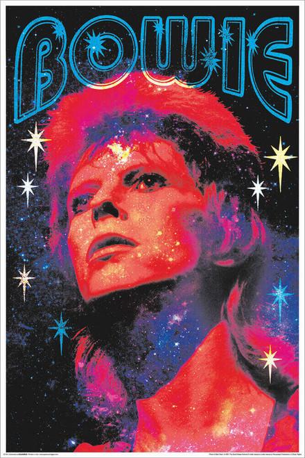 "David Bowie - Non-Flocked Blacklight Poster 24"" x 36"""