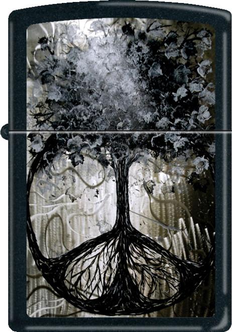 Tree of Peace Black Zippo Lighter