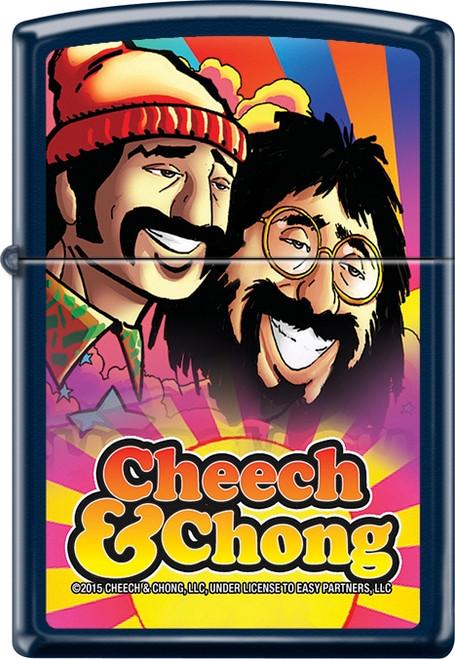 Cheech & Chong - Rise to the Occasion - Blue Matte Zippo Lighter Image