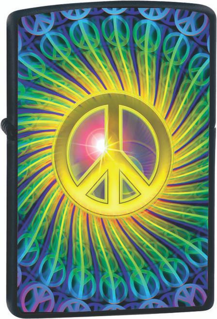 Mo Peace Black Zippo Lighter