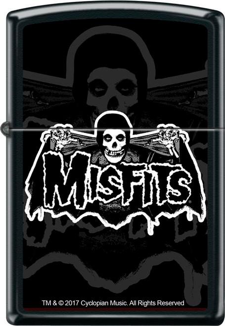 Misfits Bat Fiend Black Matte Zippo Lighter