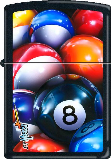 Mazzi - 8 Ball Black Matte Zippo Lighter