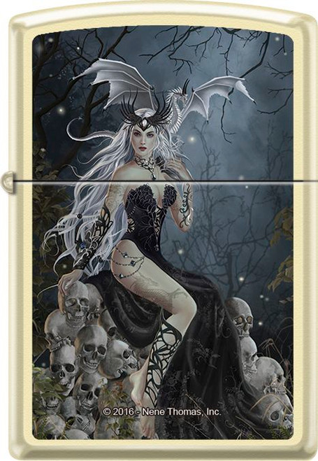 Mad Queen by: Nene Thomas - Creme Matte Zippo Lighter