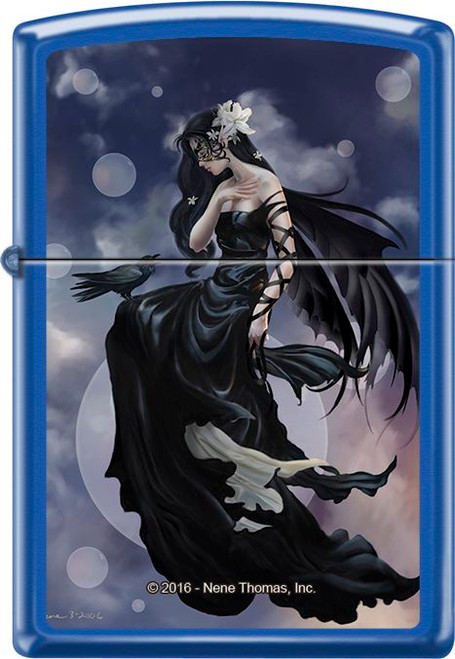 Dark Skies by: Nene Thomas - Blue Matte Zippo Lighter