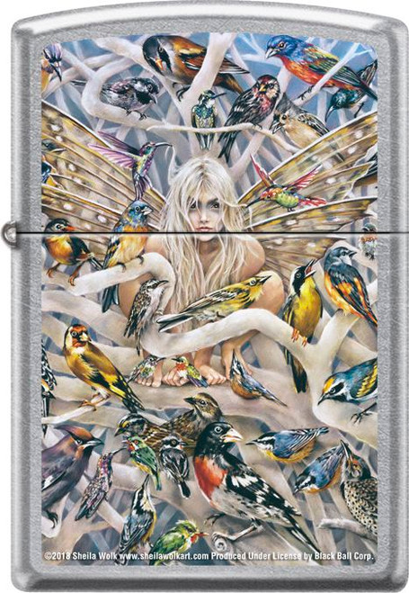 Call of the Wild by: Sheila Wolk- Brushed Chrome Zippo Lighter