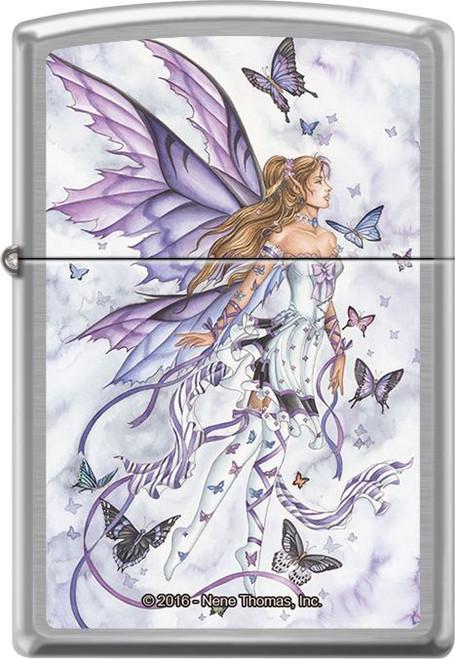 Lavender Serenade by: Nene Thomas - Brushed Chrome Zippo Lighter