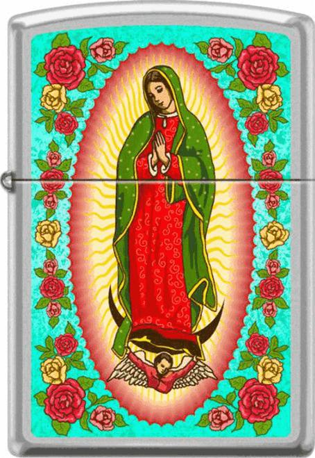 Guadalupe Madonna Chrome Zippo Lighter
