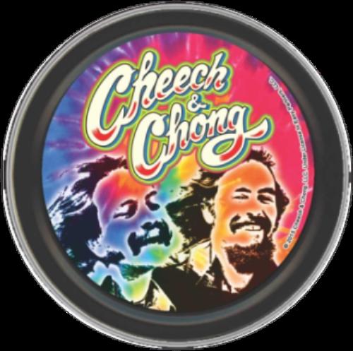 "Stash Tins - Cheech & Chong - Psychadelic 3.5"" Round Storage Container"