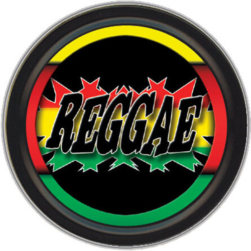 "Stash Tins - Reggae 3.5"" Round Storage Container"
