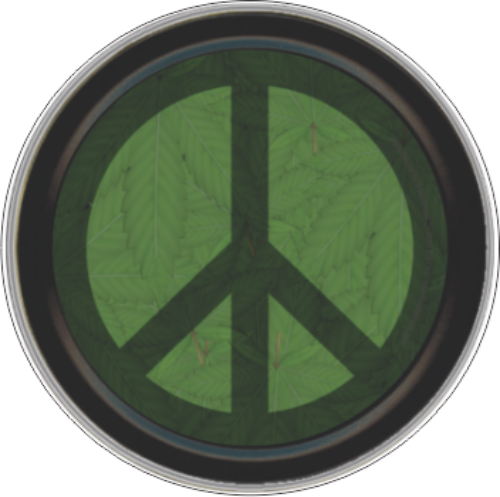 """Stash Tins - Peace Weed 3.5"""" Round Storage Container"""