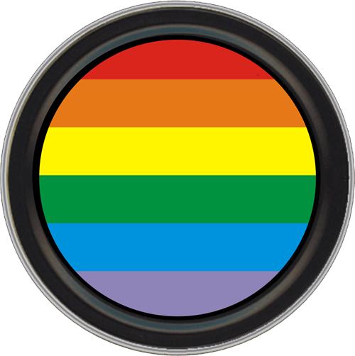 "Stash Tins - Rainbow 3.5"" Round Storage Container"