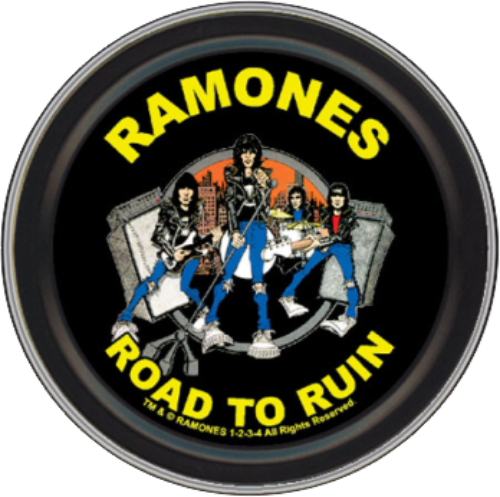 "Stash Tins - Ramones Road To Ruin 3.5"" Round Storage Container"