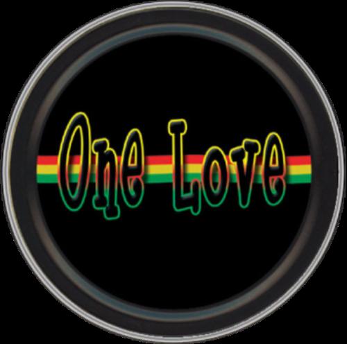 "Stash Tins - One Love 3.5"" Round Storage Container"