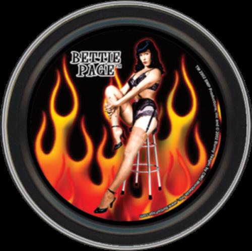 """Stash Tins - Bettie Page - Hot Bettie 3.5"""" Round Storage Container"""