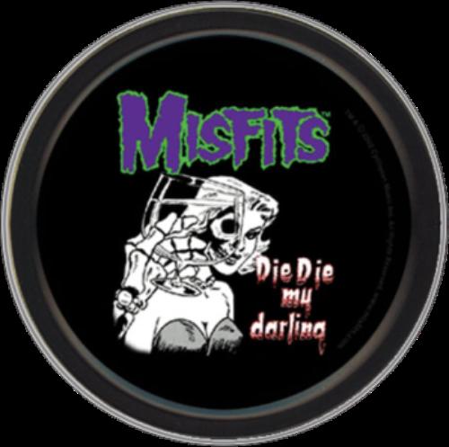 """Stash Tins - Misfits Die Die My Darling 3.5"""" Round Storage Container"""