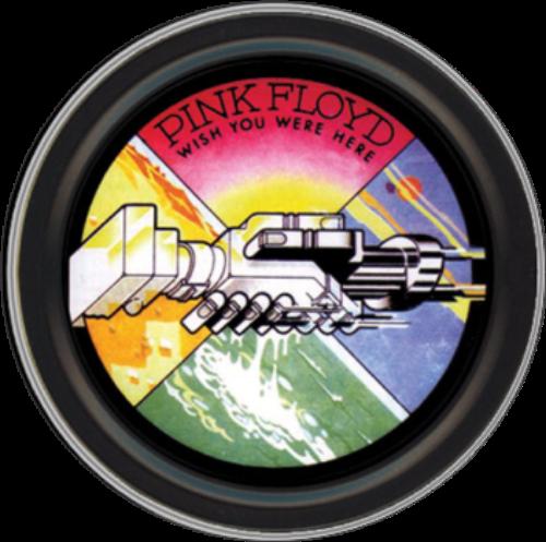 "Stash Tins - Pink Floyd Wish You Were Here Hands 3.5"" Round Storage Container"