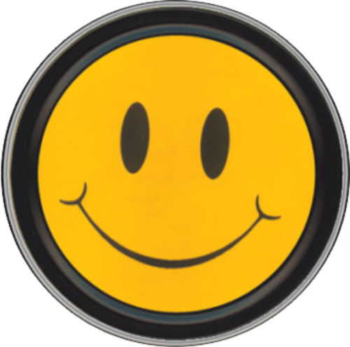 "Stash Tins - Smiley Face 3.5"" Round Storage Container"