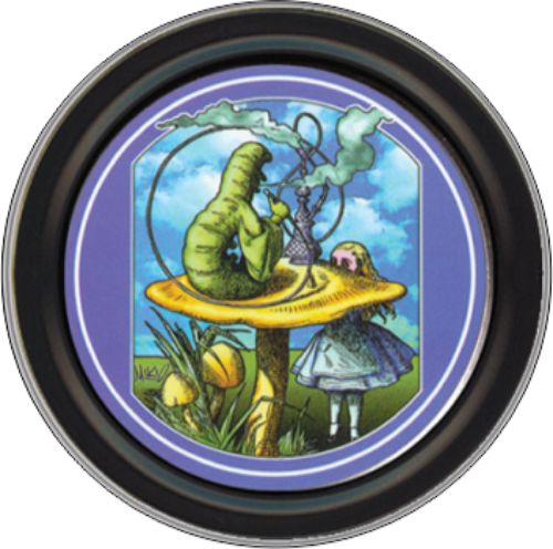 "Stash Tins - Alice By: Mikio Kennedy 3.5"" Round Storage Container"