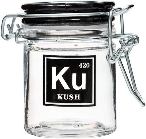 Airtight Glass Mini Stash Jar 1.5 Oz - Ku 'Kush' Design