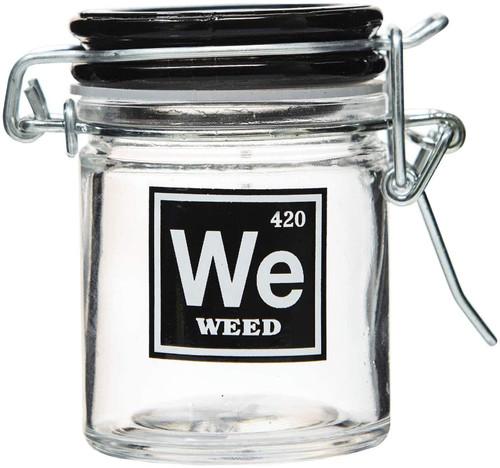 Airtight Glass Mini Stash Jar 1.5 Oz - We 'Weed' 420 Design
