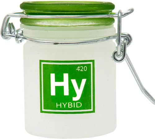 Airtight Glass Mini Stash Jar 1.5 Oz - Hy 'Hyrbrid' Design